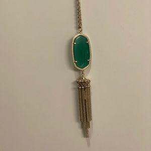 Kendra Scott green tassel necklace